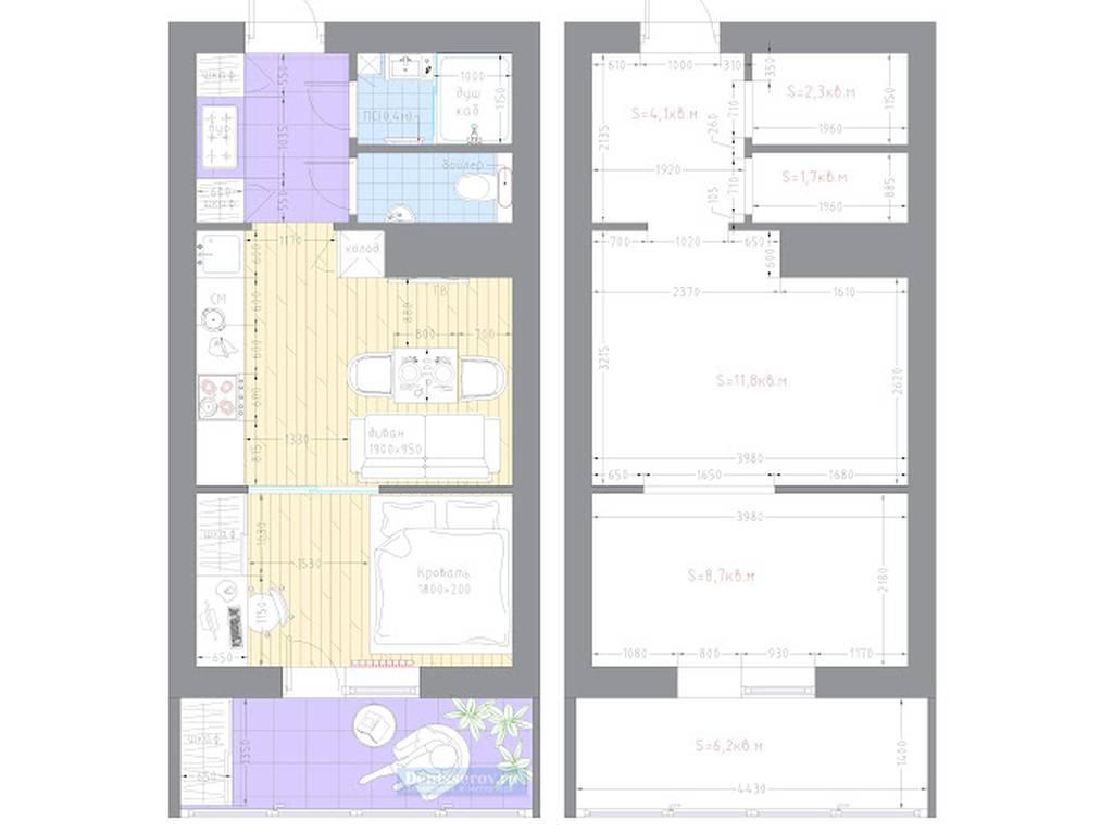 1-комнатная квартира, 19.80 м2, 36730 у.е.