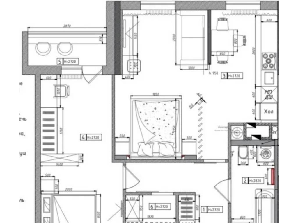2-комнатная квартира, 65.00 м2, 51920 у.е.