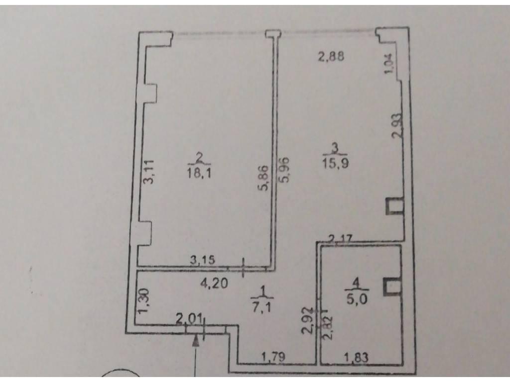 1-комнатная квартира, 46.50 м2, 62000 у.е.