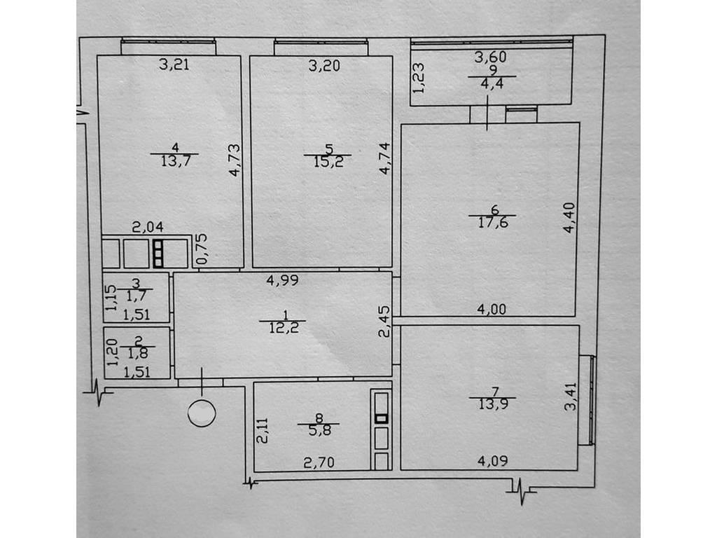 3-комнатная квартира, 86.50 м2, 75000 у.е.