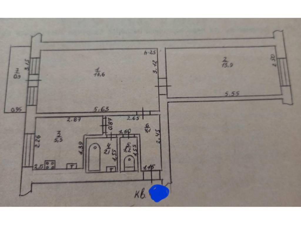 2-комнатная квартира, 45.00 м2, 34100 у.е.