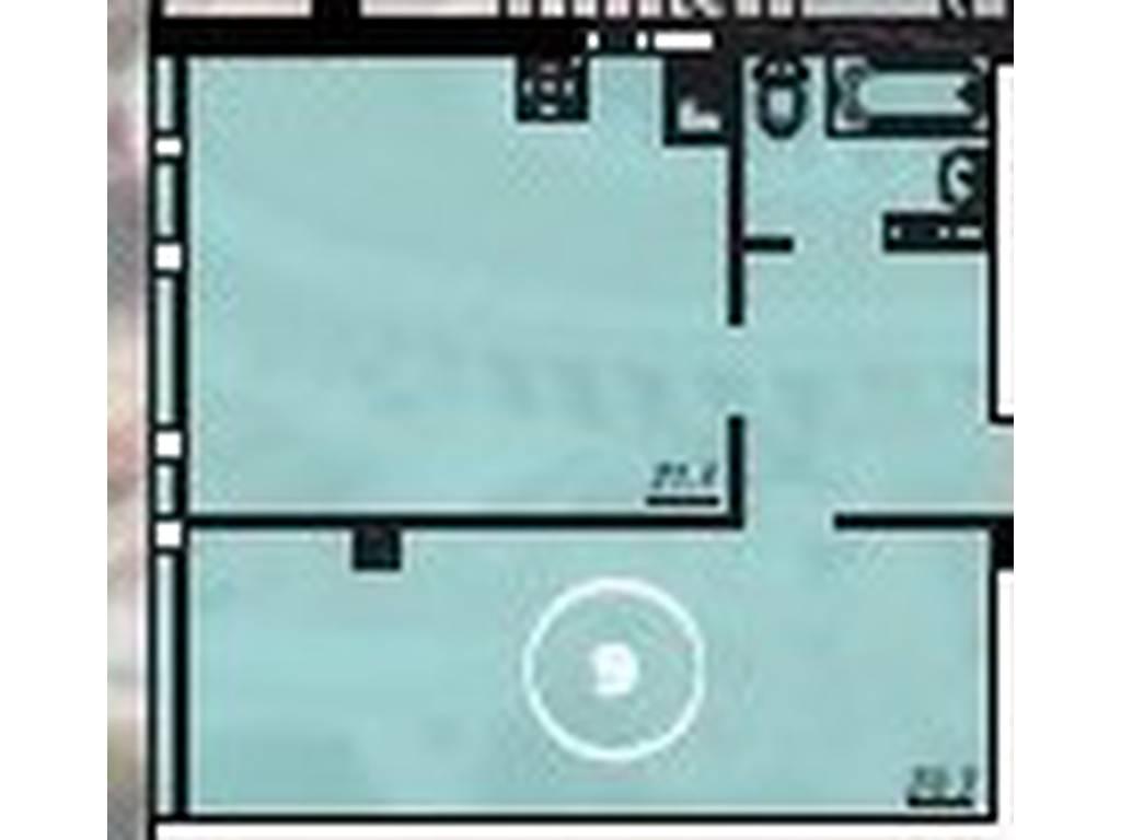 1-комнатная квартира, 51.60 м2, 40260 у.е.