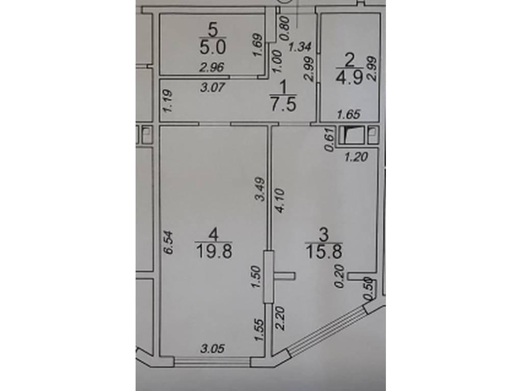 1-комнатная квартира, 55.20 м2, 78000 у.е.