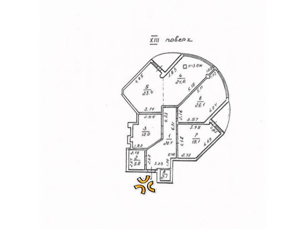 3-комнатная квартира, 137.00 м2, 93000 у.е.