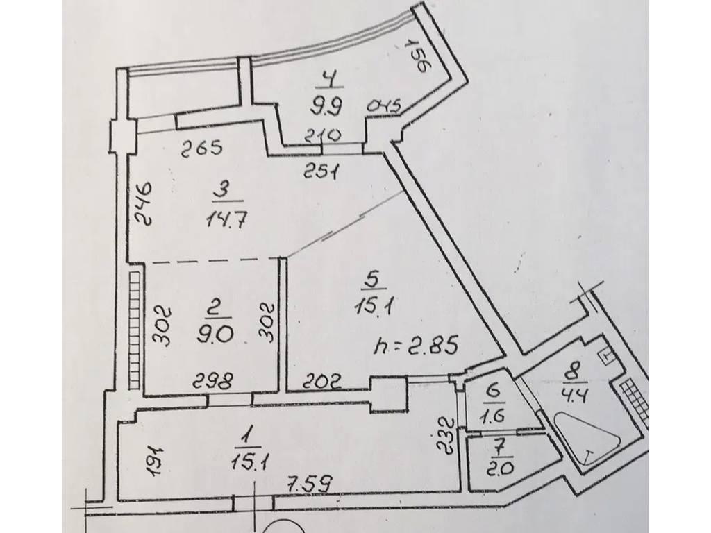 3-комнатная квартира, 74.00 м2, 69800 у.е.