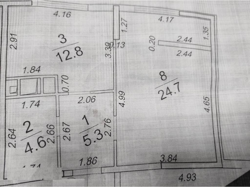 1-комнатная квартира, 47.00 м2, 70000 у.е.