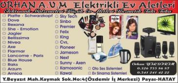 Orhan A.V.M. Elektrikli Ev Aletleri