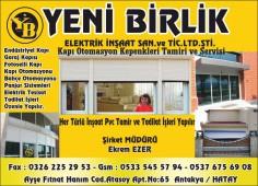Yeni Birlik Elektrik İnşaat San.ve Tic.Ltd.Şti.