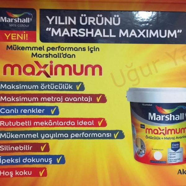 Marshall Maximum Silikonlu Boya İpek Mat 2,5 Lt.(3,5kg)