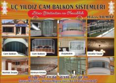 Üç Yıldız Kristal Cam Balkon