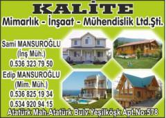 Kalite Mimarlık - İnşaat - Mühendislik Ltd.Şti.