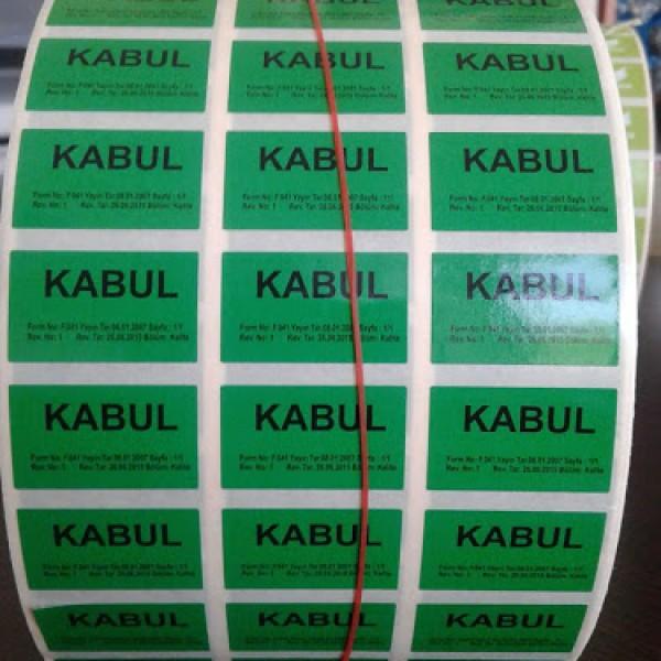Kalite Kabul Etiketi*10.000 Adet