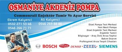 Osmaniye Akdeniz Dizel Pompa