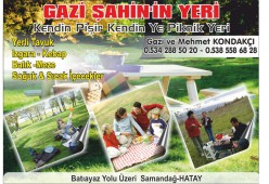 Gazi Şahin'in Yeri