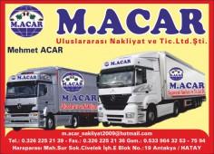 M.Acar Uluslararası Nakliyat ve Tic.Ltd.Şti.