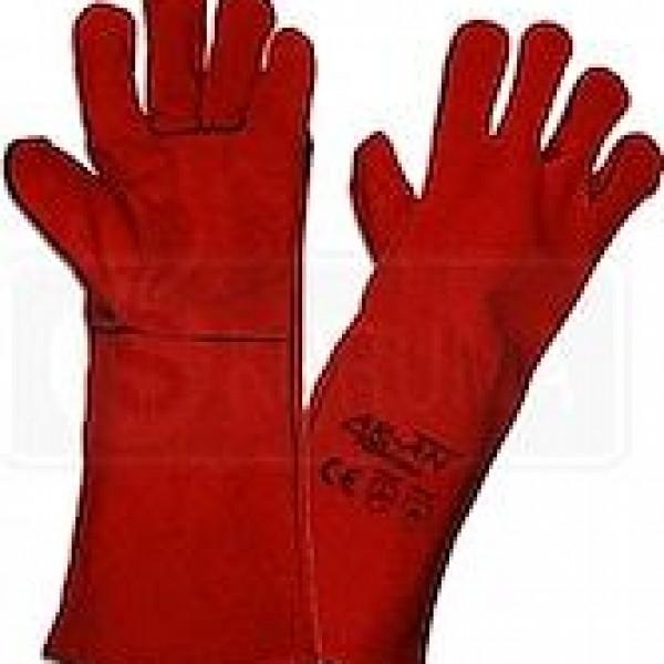 Kaynakçı Eldiveni Kırmızı 1.kalite