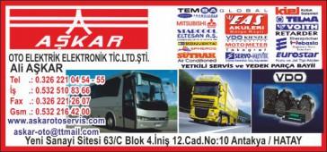 Aşkar Oto Elektrik Elektronik Tic.Ltd.Şti.