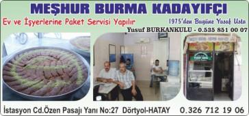Meşhur Burma Kadayıfçı