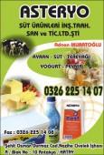 Asteryo Süt Ürünleri İnş.Taah.San ve Tic.Ltd.Şti.