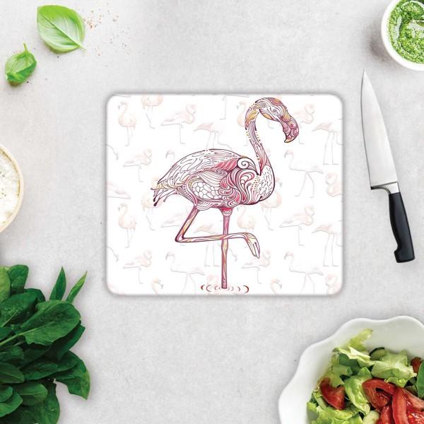 Flamingo Desen   Cam Kesme Tahtası - Cam Kesme Tablası   29 Cm X 34 Cm