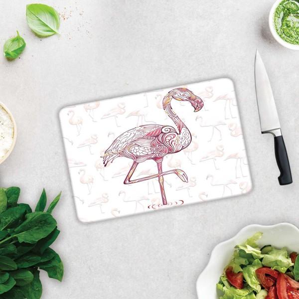 Flamingo Desen | Cam Kesme Tahtası - Cam Kesme Tablası | 20cm X 30cm