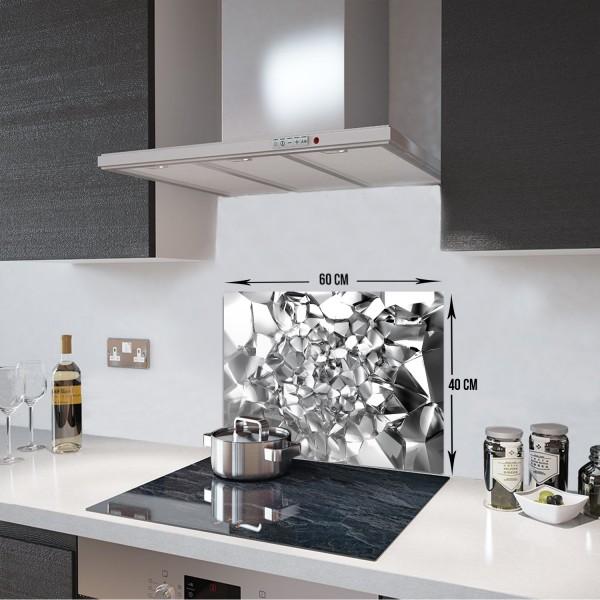 Gümüş Kristal | Ocak Arkası Koruyucu | 40cm X 60cm
