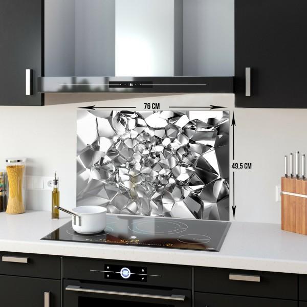 Gümüş Kristal | Ocak Arkası Koruyucu | 49.5cm X 76cm