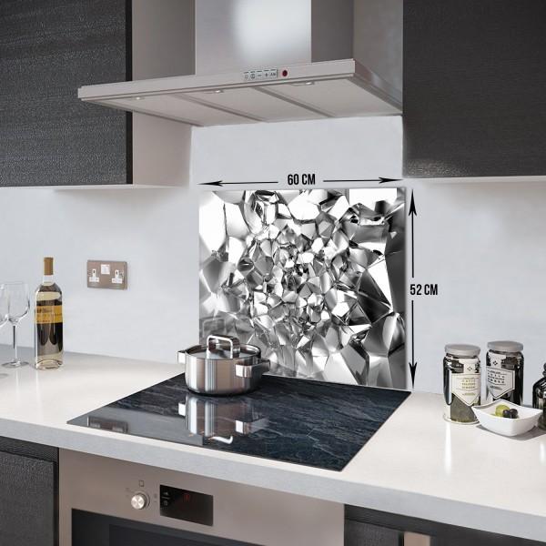 Gümüş Kristal | Ocak Arkası Koruyucu | 52cm X 60cm