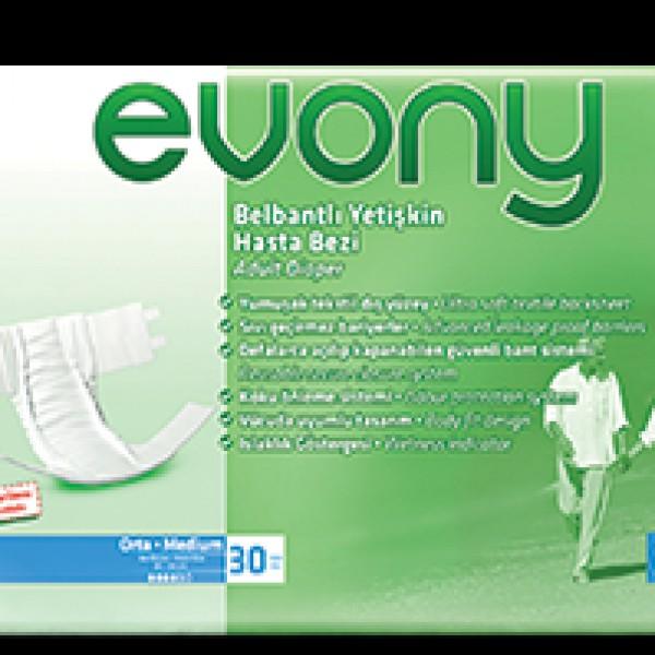 Evony Belbantlı Hasta Bezi (Medium, 30 Adet)