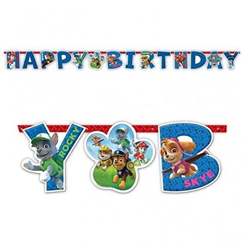 PAW PATROL - SCRITTA HAPPY BIRTHDAY