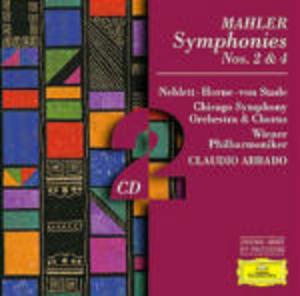 MAHLER: SYMPHONIES 2 4 2CD (CD)