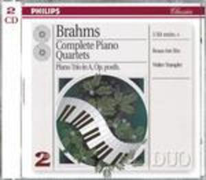 BRAHMS: COMPLETE PIANO QUARTETS BEAUX ART (CD)