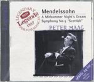 MENDELSSOHN SINFONIA N.3 - SOGNO DI UNA NOTTE DI MEZZA ESTATE (A MIDSUMMER NIGHT'S DREAM) (CD)