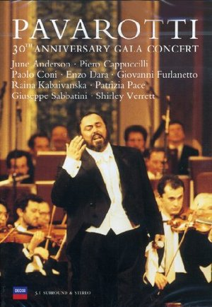 PAVAROTTI - 30TH ANNIVERSARY GALA CONCERT (1991 ) (DVD)