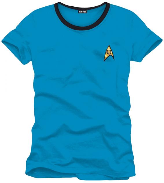 STAR TREK - SPOCK BLUE UNIFORM (T-SHIRT UNISEX TG. M)