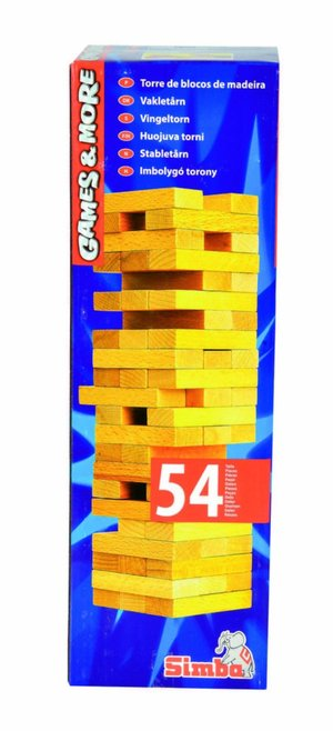 SIMBA 106125033 - GAMES AND MORE, TORRE IN LEGNO