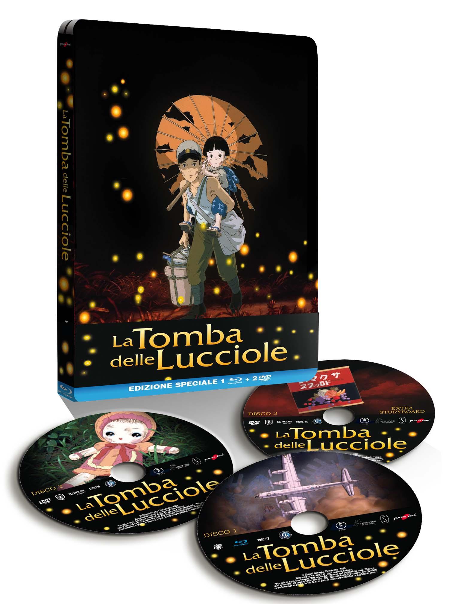 COF.LA TOMBA DELLE LUCCIOLE (STEELBOOK) (2 DVD+BLU-RAY)
