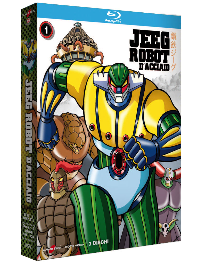 COF.JEEG ROBOT D'ACCIAIO #01 (3 BLU-RAY)