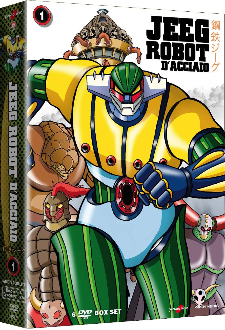 COF.JEEG ROBOT D'ACCIAIO #01 (6 DVD) (DVD)