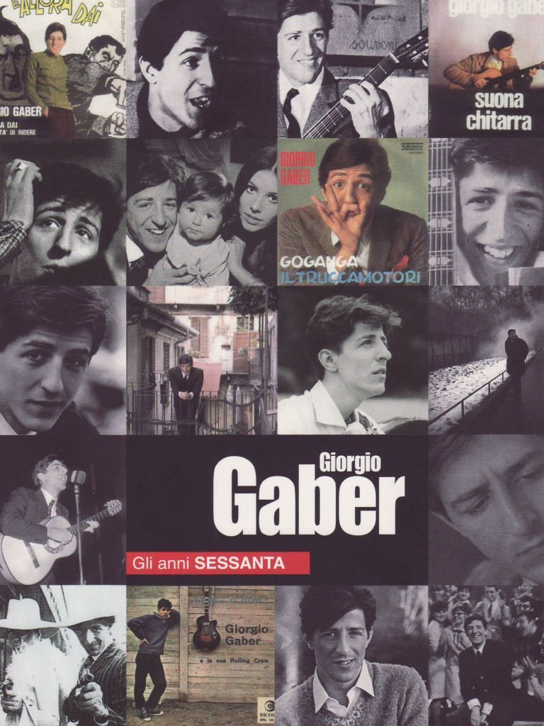 GIORGIO GABER GLI ANNI SESSANTA LIBRO+DVD ESENTE (DVD)
