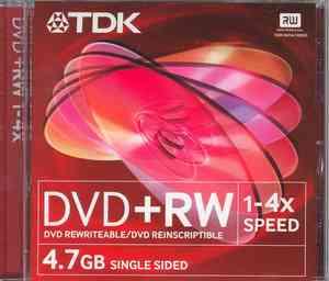 TDK DVD+RW 4X SPEED 4.7GB RISCRIVIBILI