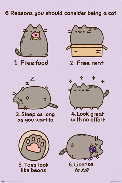 PUSHEEN - REASONS TO BE A CAT (POSTER MAXI 61X91,5 CM)