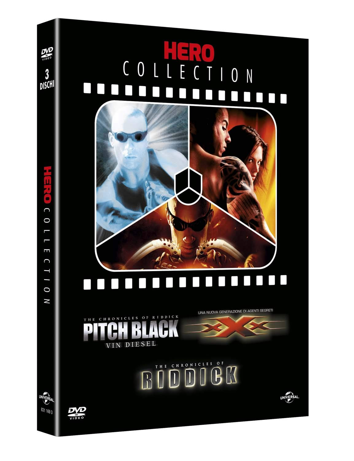 COF.HERO COLLECTION (3 DVD ) PITCH BLACK - XXX - THE CHRONICLES