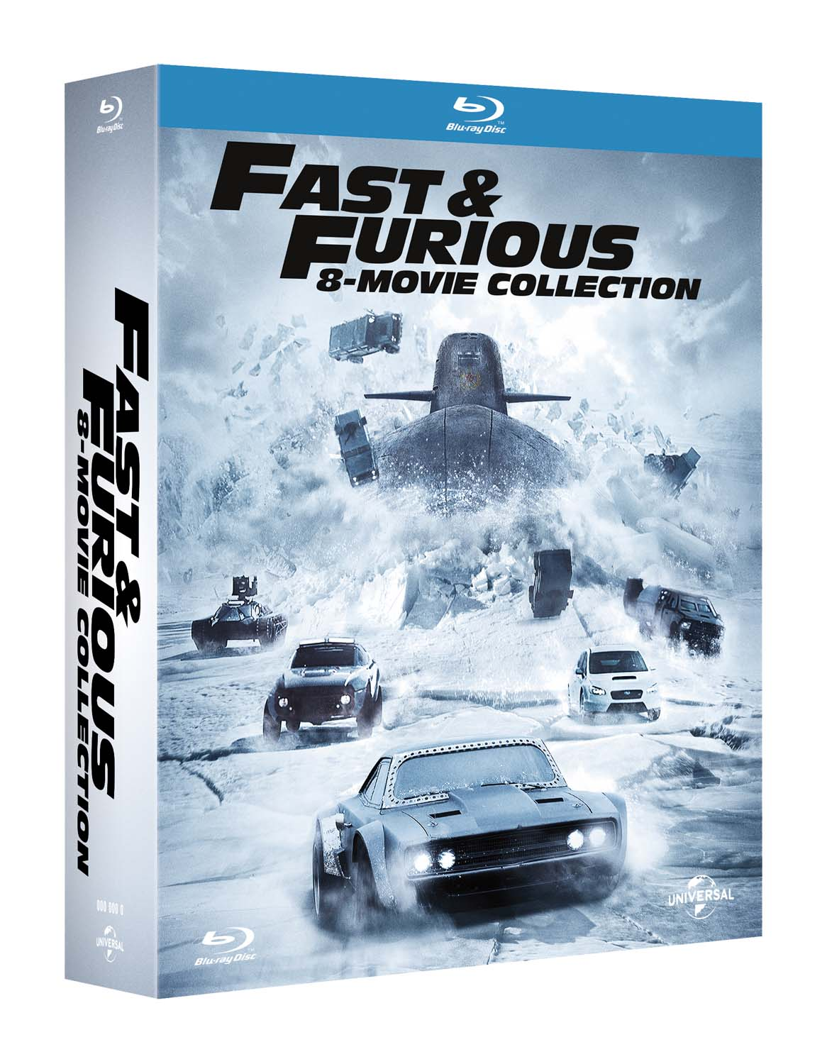COF.FAST & FURIOUS - 8 MOVIE COLLECTION (8 BLU-RAY)