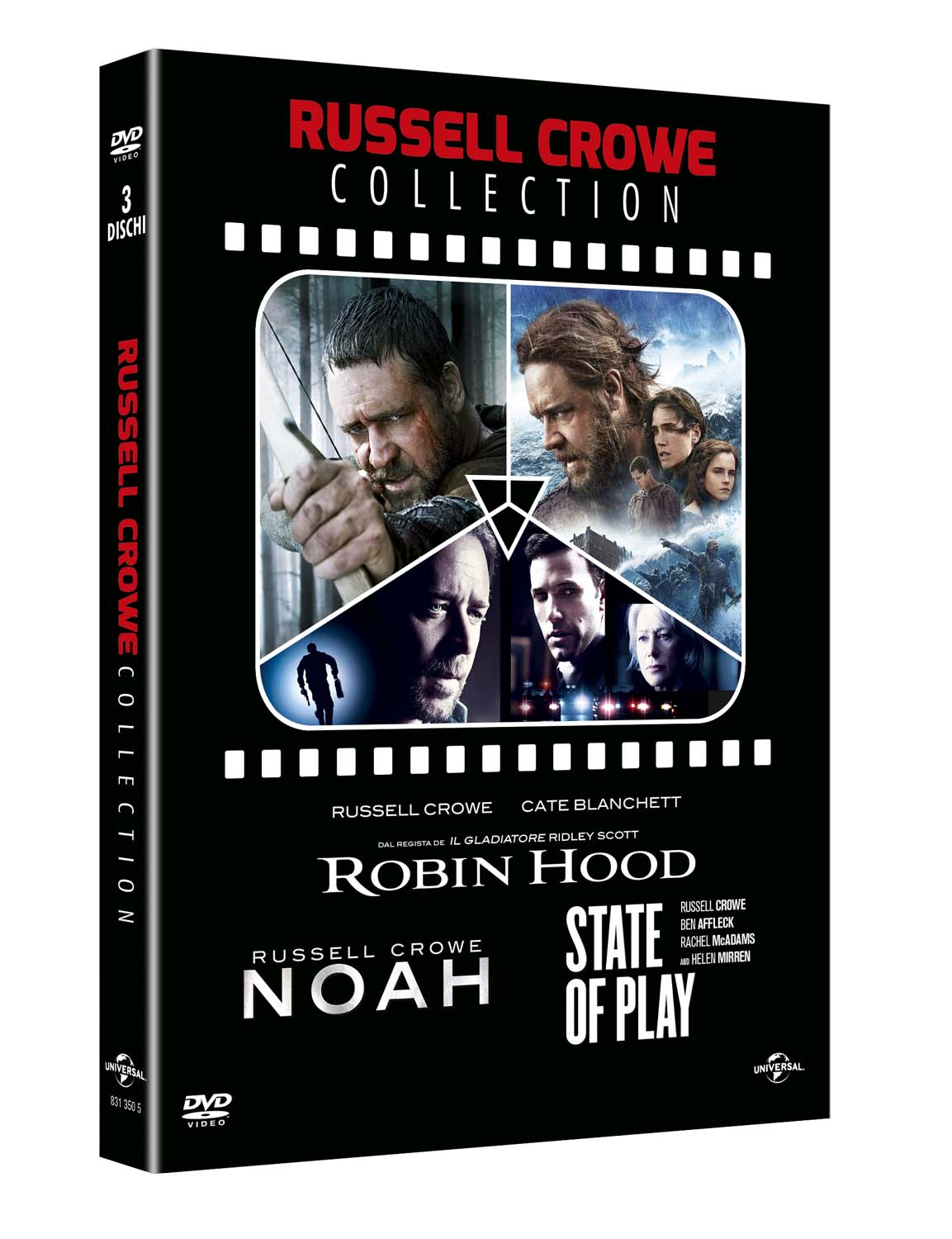 COF.RUSSELL CROWE COLLECTION (3 DVD) NOAH - ROBIN HOORD - STATE