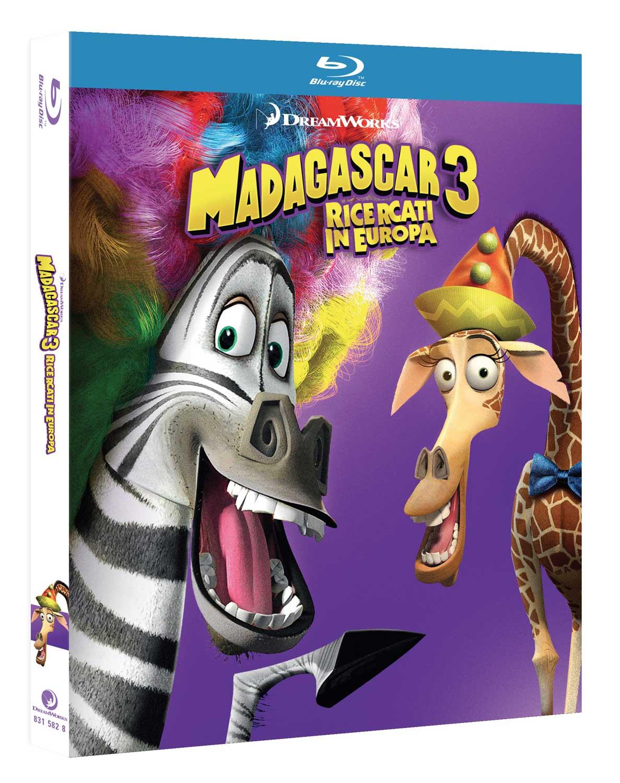 MADAGASCAR 3 - RICERCATI IN EUROPA - BLU RAY
