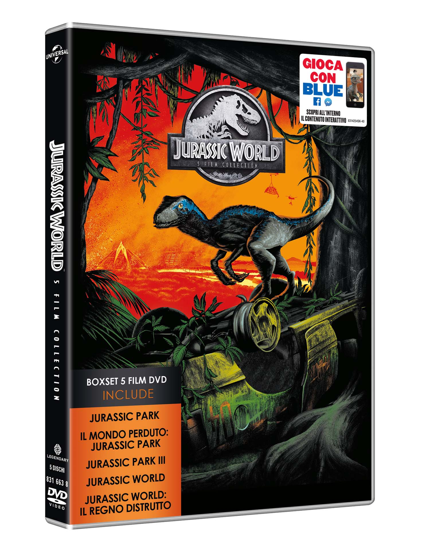 COF.JURASSIC 5 MOVIE COLLECTION (5 DVD) (DVD)