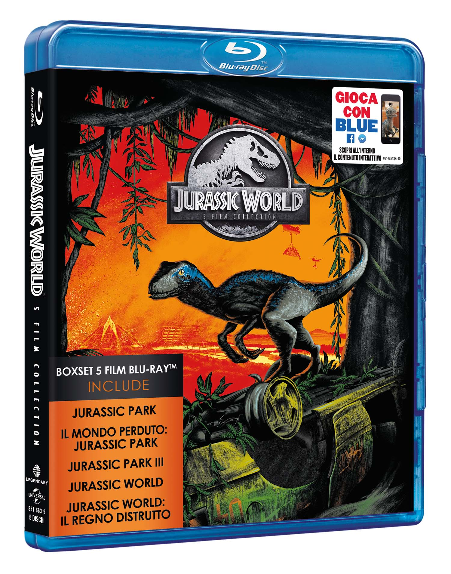 COF.JURASSIC 5 MOVIE COLLECTION (5 BLU-RAY)