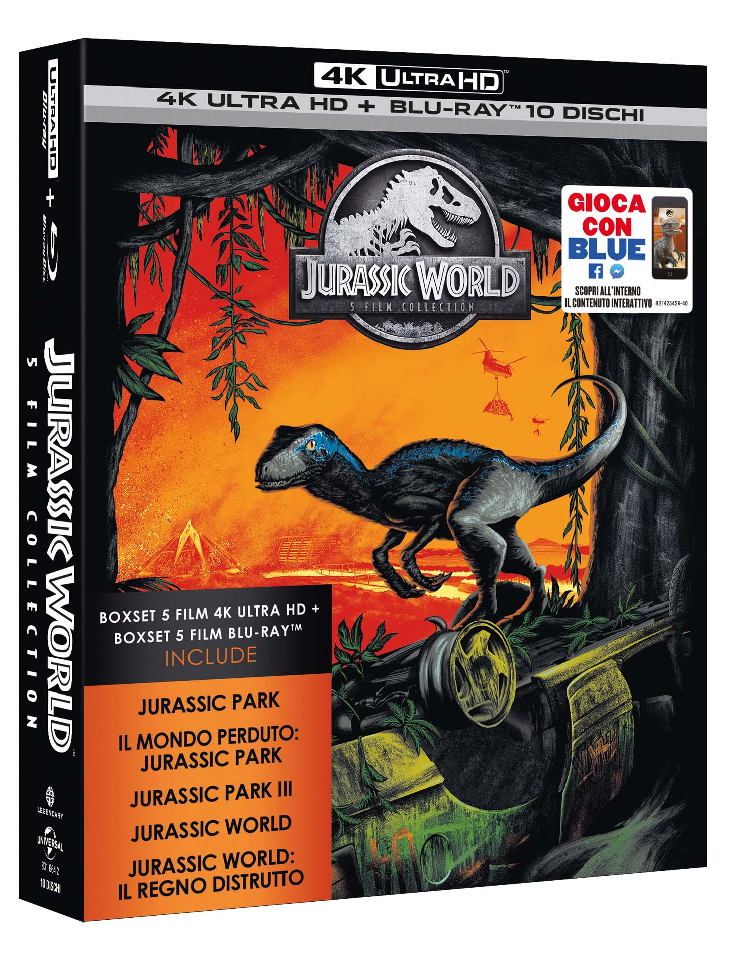 COF.JURASSIC 5 MOVIE SUPER COLLECTION (5 4K UHD+BLU-RAY)