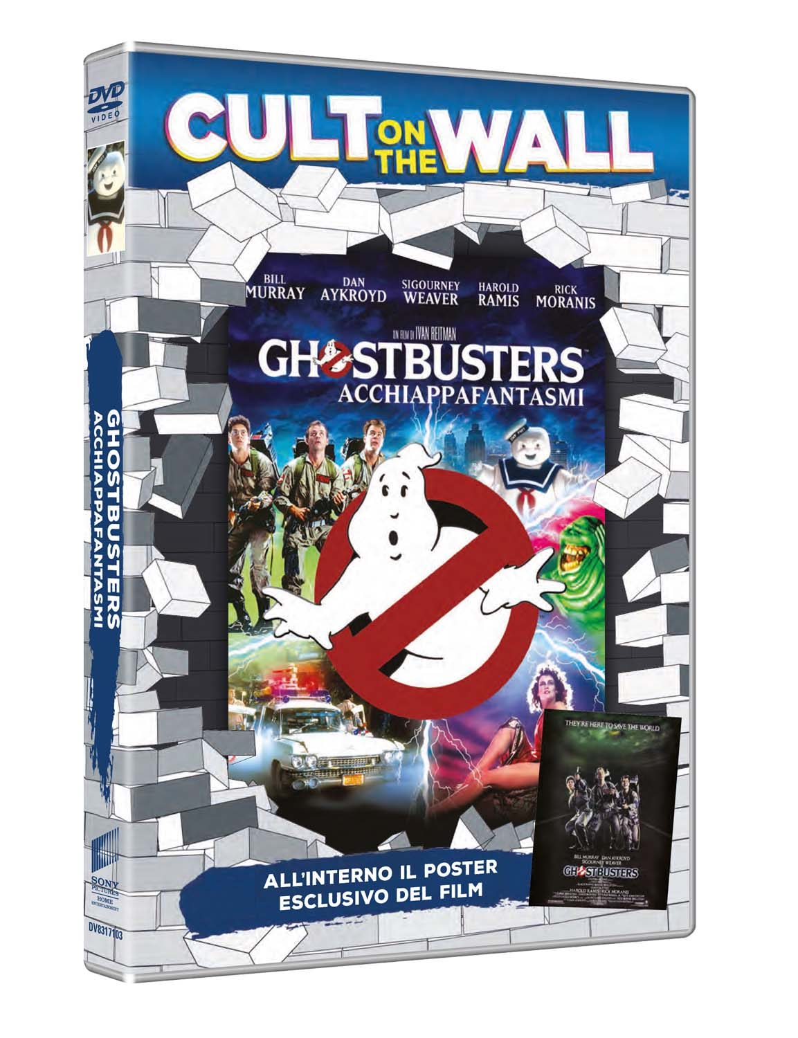 GHOSTBUSTERS (CULT ON THE WALL) (DVD+POSTER) (DVD)
